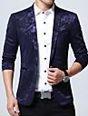 Bărbați Guler Cămașă Blazer Muncă Plus Size Simplu,camuflaj Mânecă Lungă Primăvară Toamnă-Regular Bumbac Acrilic