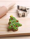 julgran kakor fräsar rostfritt stål kex kaka mögel bakverktyg