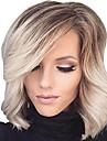 Femme Perruque Synthetique Court Boucle Ondule Ondulation Naturelle Blond Cheveux Colores Meches Colorees / Balayees Partie laterale Avec