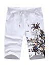 Bărbați Zvelt Simplu Talie Medie,Micro-elastic Pantaloni Scurți Pantaloni Imprimeu
