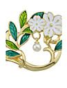 Pentru femei Broșe Bijuterii La modă Cute Stil Perle Aliaj Flower Shape Leaf Shape Bijuterii Pentru Zilnic Casual