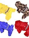 Hund Regnjacka Hundkläder Enfärgad Gul Röd Blå Kamoflagefärg Akrylik Fiber Kostym För husdjur Herr Dam Ledigt/vardag