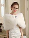 Faux Fur Wedding Party / Evening Women\'s Wrap With Buttons Fur Capelets