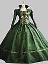 Victorian Rococo Costume Women\'s Dress Masquerade Party Costume Green Vintage Cosplay Satin Sleeveless Knee Length Floor Length