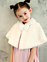 Faux Fur Wedding Party / Evening Kids\' Wraps With Pattern / Print Sweetheart Capelets