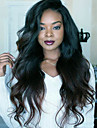 Human Hair 360 Frontal Wig style Brazilian Hair Body Wave Natural Wave Wig 130% Density with Baby Hair For Black Women Women\'s Short Medium Length Long Human Hair Lace Wig