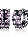 Pentru femei Cercei Stud Cercei Rotunzi  Diamant sintetic Zirconiu Cubic La modă Personalizat Zirconiu Zirconiu Cubic Geometric Shape