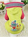 Hund Regnjacka Hundkläder Tecknat Gul Röd Blå Polyester Kostym För husdjur Herr Dam Ledigt/vardag