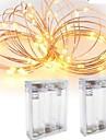 2pcs 3m 30led 3aaa 4.5v baterii alimentat cu ornamente impermeabil a condus fir de cupru lumini șir pentru petrecerea de nunta festival