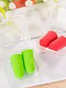 5 par resor mjuka öronproppar slumpmässigt färg plastförpackningspaket