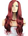 Femme Perruque Lace Front Synthetique Mi Longue Long Ondule Droite Rouge Perruque de Cosplay Perruque Naturelle Perruque Lolita Perruque