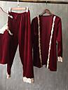Žene V izrez Odijelo Pidžama Jednobojni