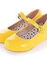 Zapatos Amaloli Tacon Cuna Zapatos Un Color 3 cm CM Negro / Amarillo / Rosa Para Mujer Cuero Sintetico / Cuero de Poliuretano Disfraces de Halloween / Princesa