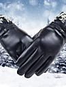 Damă Jacquard Iarnă Simplu Accesorii Mănuși de Iarnă Αντιανεμικό Impermeabil Keep Warm PU piele,Lungime Încheietură Vârfurile Degetelor