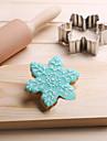 snöflingor kakor skärare rostfritt stål kex kaka form fondant bakverk verktyg