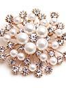 Pentru femei Broșe Diamant sintetic Imitație de Perle Clasic Modă Imitație de Perle Aliaj Floare Auriu Bijuterii Pentru Zilnic Dată