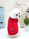 Katt Hund Kappor Väst Vinterkläder Hundkläder Bokstav & Nummer Gul Röd Blå Nylon Terylen Kostym För husdjur Vinter Ledigt/vardag Håller