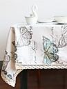 Dreptunghiular Pătrat Fluture Fețe de masă , Amestec In / Bumbac Material Acasă Acasă/Birou Hotelul masă Tabelul Dceoration Decorațiuni