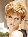 Человеческие волосы без парики Натуральные волосы Прямой Боковая часть Короткие Машинное плетение Парик Жен. / Прямой силуэт