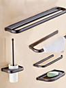 Set Accesorii Baie Bară Prosop Inel Prosop Suport Hârtie Igienică Farfurie Săpun Suport Perie Toaletă Montat pe Perete