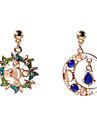 Pentru femei Cercei Dangle Perechi Desperecheați Ștras Vintage Euramerican Nepotrivirea Opal Aliaj lună Bijuterii Pentru Zilnic Casual