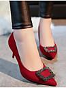 Pentru femei Pantofi PU Primăvară / Toamnă Confortabili Tocuri Gri / Rosu / Verde