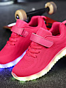 Fete Pantofi Plasă Țesătură Iarnă Toamnă Confortabili Pantofi Usori Adidași Bandă Magică LED pentru Casual Negru Albastru Închis Gri Roz