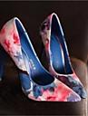 Pentru femei Pantofi Piele Primăvară / Toamnă Confortabili Tocuri Toc Stilat Vârf ascuțit Albastru / Roz