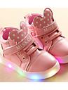 Fete Pantofi Imitație de Piele Primăvară Toamnă Confortabili Adidași Pentru Casual Alb Negru Roz
