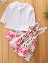 Fete Set Îmbrăcăminte Mată Floral Bumbac Poliester Primăvară Toamnă Manșon Lung Petrecere/Seară Rochii Sweet Style Ținute Timp Liber