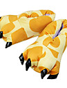 Adults\' Kigurumi Pajamas Slippers Giraffe Animal Onesie Pajamas Polyester Cotton Yellow Cosplay For Men and Women Animal Sleepwear Cartoon Festival / Holiday Costumes