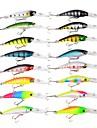 16 pcs פתיונות דיג פיתיון קשיח Minnow פלסטי ABS צף שוקע דיג בים דיג בחכה הטלת פיתיון / דיג קרח / Spinning / דיג ג\'יג / דייג במים מתוקים / דיג קרפיון