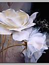 HANDMÅLAD Blommig/Botanisk Fyrkantig, Artistisk Rustik Aktiv Födelsedag Modern Yrke/Affär Jul Nyår Duk Hang målad oljemålning
