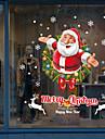 Art Deco Crăciun Autocolant Geam, PVC a vinyl Material fereastra de decorare Living