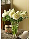 10 ramură Mătase Bujori Față de masă flori Flori artificiale