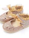 Fete Pantofi Imitație de Piele Primăvară Confortabili / Pantofi Fata cu Flori Pantofi Flați Funde / Paiete / Bandă Magică pentru Auriu /