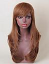 人間の毛のキャップレスウィッグ 人毛 ナチュラルウェーブ ホット販売 / サイドパート ロング 機械製 かつら 女性用