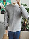 Bărbați Ieșire Casul/Zilnic Lung Plover-Mată Manșon Lung Rotund Poliester Iarnă Toamnă Gros Micro-elastic