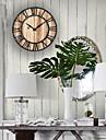 Tema boem Tema Vintage Ceas de perete,Rotund Interior Ceas
