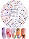 50 pcs Autocolantes de Unhas 3D Adesivos Decalques arte de unha Manicure e pedicure Fashion Diario / Etiquetas de unhas 3D