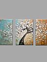 Pictat manual Peisaj Orizontal,Modern Clasic Trei Panouri Canava Hang-pictate pictură în ulei For Pagina de decorare