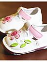 Bebeluș Pantofi PU Primăvară Toamnă Confortabili Primii Pași Pantofi Flați Pentru Casual Alb Roz