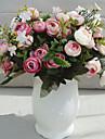 1 Gren Silke Roser Bordsblomma Konstgjorda blommor
