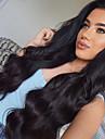 Remy-hår Spetsfront Peruk Peruanskt hår Kroppsvågor Med babyhår 130% Densitet 100% Jungfru Afro-amerikansk peruk Naturlig hårlinje Mellan