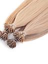 neitsi 20 \'\' anneau de nano pointe de boucle remy extensions de cheveux humains de 50g / lot g / droite