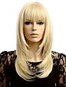 Syntetiske parykker Boelget Blond Blond Syntetisk haar Dame Naturlig haarlinje Blond Parykk Kort Lokkloes