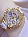 Pentru femei Quartz Ceas de Mână Ceas La Modă Japoneză Ceas Casual Oțel inoxidabil Ceramică Bandă Charm Alb Argint Auriu