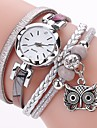 Γυναικεία κυρίες Βραχιόλι Ρολόι Προσομοίωσης Ρόμβος Ρολόι Diamond Watch Χαλαζίας Wrap Συνθετικό δέρμα με επένδυση Μαύρο / Λευκή / Μπλε απομίμηση διαμαντιών Αναλογικό Καθημερινό Μποέμ Μοντέρνα -