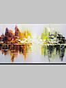 HANDMÅLAD Abstrakt Horisontell, Enkel Moderna Duk Hang målad oljemålning Hem-dekoration En panel