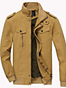 Bărbați Stand Jachetă Casul/Zilnic Simplu,Mată Manșon Lung Toamnă Iarnă-Regular Bumbac